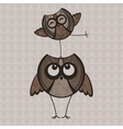 Two brown funny owls vector image vector image
