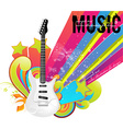 Bright Guitar Icon vector image