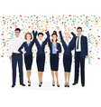 Corporate Business Team Enjoying Success and vector image