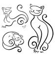 Funny cats sketch vector image
