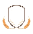 Wheat spike icon design vector image
