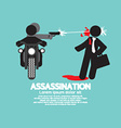 Assassination Shooting From The Motorcycle vector image