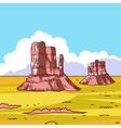 Prairie landscape vector image