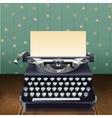 Retro Style Typewriter vector image