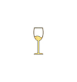 wineglass computer symbol vector image