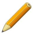 Yellow pencil icon cartoon style vector image