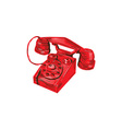Telephone Vintage Drawing vector image vector image