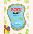 pool party poster summer event festival vector image