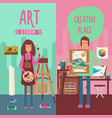 art and design studio vertical banners vector image
