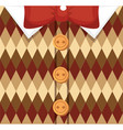 vintage male sweater vector image