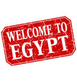 welcome to egypt red square grunge stamp vector image