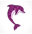 dolphin jumping vector image
