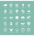 Set silhouetted white SEO and internet icons for vector image