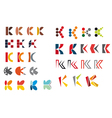 k alphabet symbols vector image