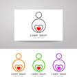love care sign identity vector image vector image