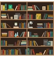 Home library flat vector image