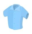 Short sleeved men shirt icon cartoon style vector image vector image