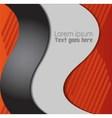 Abstract Orange black background vector image