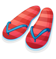 A pair of red slippers vector image