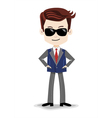 Animation cartoon character super-agent spy vector image