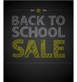 Back to school poster with text on chalkboard vector image