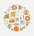 data analytics concept vector image