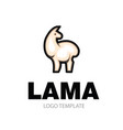 fluffy and gentle light llama vector image