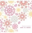 folk floral circles abstract frame corner vector image