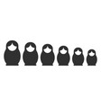 matryoshka silhouette set vector image