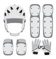 protective gear for skateboarding roller skating vector image