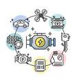 set mechanic service station repair vector image