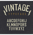Vintage retro typeface Stamped alphabet white vector image