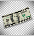 A 100 dollar bill vector image