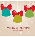 Holiday bells on snowflakes background vector image vector image