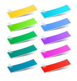 Colorful stickers vector image vector image