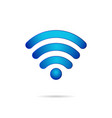 wifi 3d symbol wireless connection icon vector image
