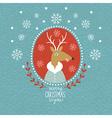 Cute Christmas Deer portrait vector image vector image