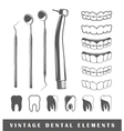 Set of elements of the dentist vector image