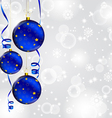 Modern Christmas baubles background vector image vector image