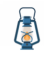 Camping Lantern or Gas Lamp vector image