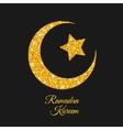 Ramadan Kareem Ramadan Moon Islam Symbol vector image