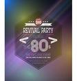 Retro 1980s Revival Vintage Party Poster Neon vector image