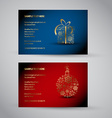 Set of christmas New Year banners 2012 vector image
