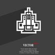 skyscraper icon symbol Flat modern web design with vector image