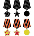soviet orders and medal vector image vector image