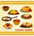 Mexican cuisine spicy dishes icon vector image