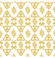 Damask luxury golden ornament vector image