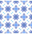 blue background floral curvy pattern vector image