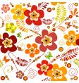 vivid seamless floral pattern vector image vector image