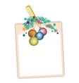 Blank Photos with Christmas Ball vector image